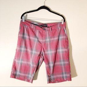Novara Red and grey plaid shorts size 34
